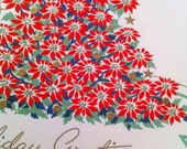 Vintage Holiday Cards 12 - Tree & staircase