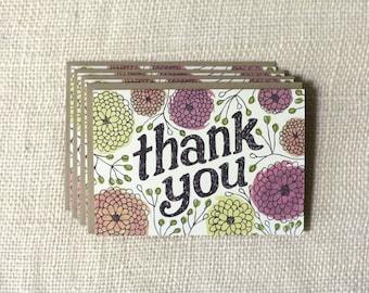Note Card Set - Thank You Zinnias