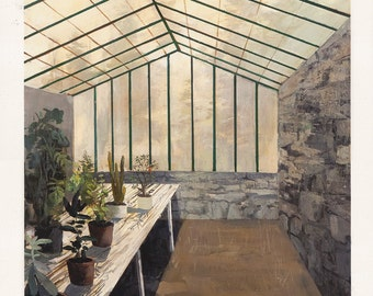 Greenhouse Interior-limited edition print-