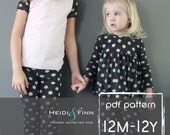 All you Need Jammies pajamas pattern pdf 12M-12y leggings tee shirt nightgown  unisex