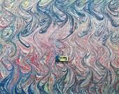 marbled paper, marmorpapier , Bookbinding, papier marbrè , marbled paper . carta marmorizzata cm 50 x 70  -    2508