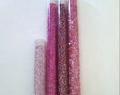 SALE 4 Tubes of Pretty Pink Seed Beads
