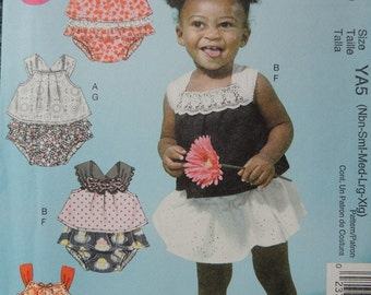 McCalls Easy M6538 Infants Tops and Panties in sizes NB-XL (uncut)