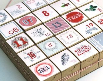 Advent Calendar / Christmas Countdown / Christmas Count Down / Christmas Calendar / Vintage Style Decoration / Vintage Style Advent Calendar