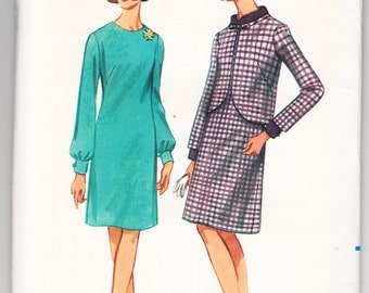 Vintage 1967 Butterick 4262 UNCUT Sewing Pattern Misses' Dress and Jacket Size 10 Bust 31