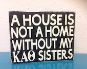 Kappa Alpha Theta shelf sitter sisters sign primitive