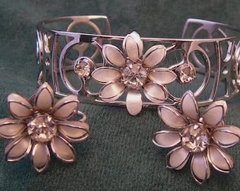 Bugbee & Niles Rhinestone Bracelet and Earrings Set