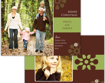 Instant Download - Photoshop PSD layered Templates for Photographers - Holiday card - Kennedy Design