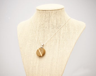 Facet Collection - Polished Beach Rock Pendant - Golden Wishes