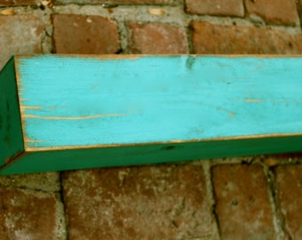 Rustic Home Decor - Floating Wall Shelf - Farmhouse Chic - Shelves - Old Wooden Shelving - 40 Inches Wide