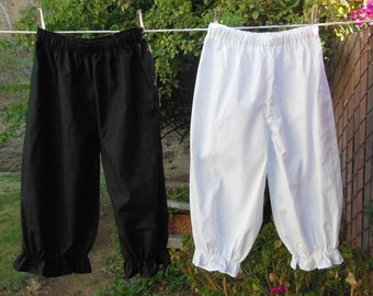 Womens Bloomers Basic Frugal Frills Cotton No Lace Custom Made