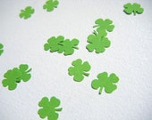 Shamrock CONFETTI 100 Hand Punched Lucky Irish 4 Leaf Clovers, Spring / Summer in Greens, Rainbows or Pastels. Eco Friendly. Made in Ireland