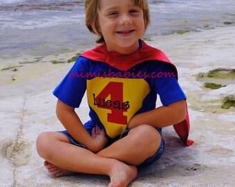 Superhero Theme Birthday Shirt