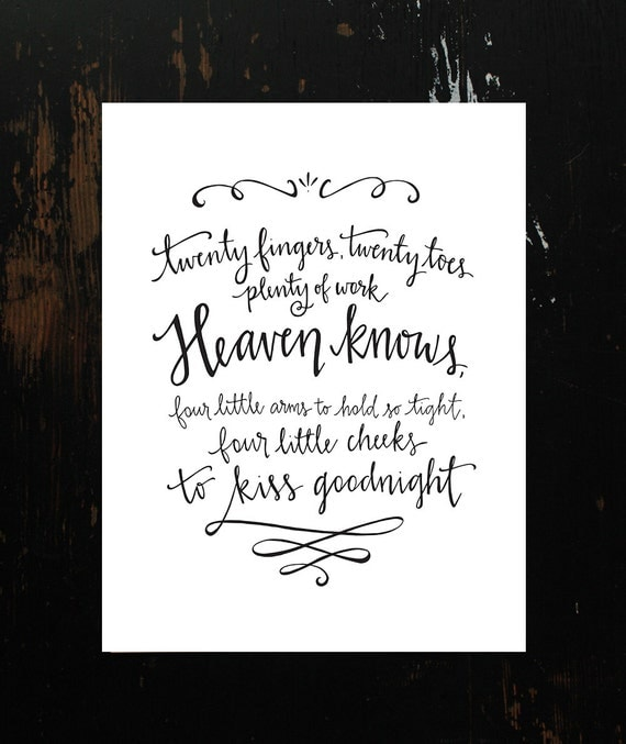 Letters From Heaven Poems Twins Poem Hand-lettering