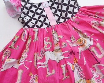 Carousel Flutter Dress Floral Dear Stella Ruffle Boutique Pageant Summer Fun