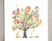 Spring Love Birds Tree - Giclee Art Print Reproduction of Watercolor Painting - Trees of Life Collection