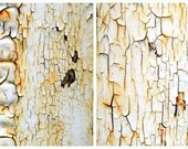 Cracks and Peels Combo Pack, Decay, Paint, Neutral Color, Modern Wall Decor, 11X14 Mats, Wall Hanging, Ready to Frame, Industrial Art