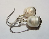 Large Cultured Pearls and Sterling Silver Earrings on Etsy