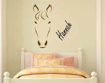 Horse-horse decal-personalized horse sticker-pony-mustang-rodeo-western-girls room decor-24 X 28 inches