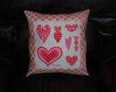SALE - Valentine (9)    -   16 inch Throw Pillow COVER ONLY