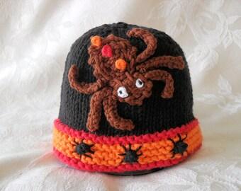 Halloween Baby Hat Spider Baby Hat Children Clothing Knitted Baby Hat Knit Baby Knitted Baby Beanie Hat Bug Baby Hat Halloween Costume