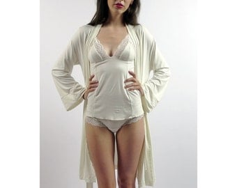on sale and ready to ship size large - womens bamboo camisole with lace trimmed triangle cups  -
