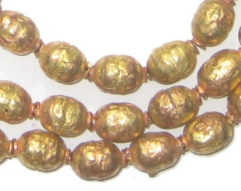 65 Brass Ethiopian Prayer Beads - African Brass Beads - Jewelry Making Supplies - Made in Ethiopia ** (MET-OVL-BRS-261)
