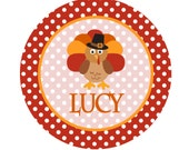 Thanksgiving Iron On Transfer - Personalized Thanksgiving Transfer with Turkey and Child's Name - First Thanksgiving - Turkey Iron On - T5