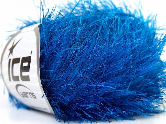 Eyelash Yarn : blue eyelash yarn bulky chunky 50gr polyester ice yarns usa light blue ...