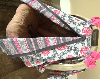 Car seat canopy Baby Girl