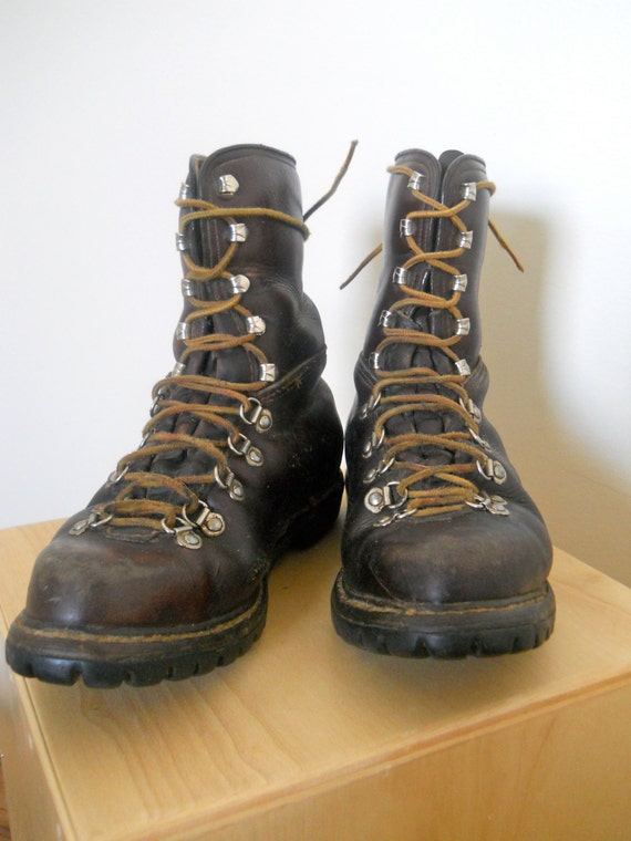 Unique Womenu0026#39;s Hiking Boots Vintage 1950u0026#39;s Leather Lace Ups