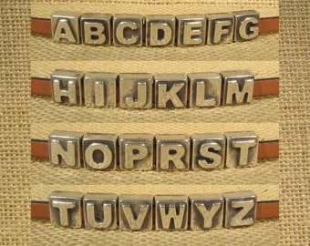 Letters for 5mm Flat Leather - Antique Silver