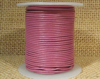 1mm Round Indian Leather - Dusty Pink - L1-134