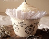 ON SALE! Royale Romance. Six Cupcake Holders with Royal French Bees