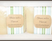 Shave and a Haircut All Natural Handmade Soap---Masculine Scent---LARGE BAR!