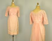 60s wedding dress bridesmaid sequin organza bustle dress