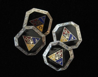 Fraternal Order of the Knights of Pythias Double Sided Enamel Cuff Links