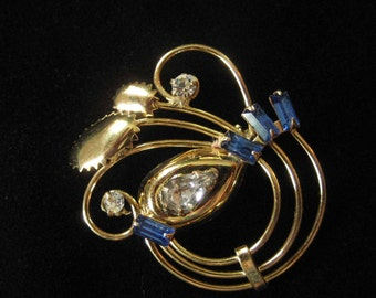 Art Deco Retro Gold Filled Brooch