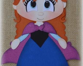 Disney Princess Anna Frozen Premade Scrapbooking Embellishment Paper Piecing