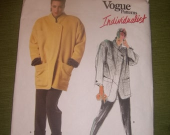 Vogue Claude Montana Loose Fitting Hip Jacket  and Pants / Size 10