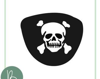 Pirate Eye Patch SVG File