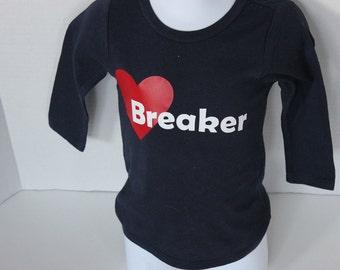 Valentines Day Shirt, Heart Breaker Boys Top, Valentines Day
