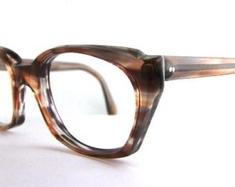 Vintage 1960s Mens Eyeglasses // 60s Frames // Thick Tortoiseshell  // Airco brand