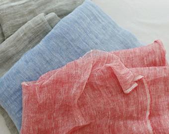 Pure Linen Khaki Solid WIDE 132cm, U200