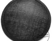 14cm Black Round Millinery Sinamay Hat Base for Fascinators, Cocktail Hats and Wedding Veils