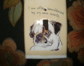 Fawn Pug Switchplate Cover