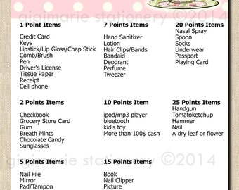 """A Baby's Brewing or Tea for Two """"What's in Your Purse?"""" - Printable Digital BABY SHOWER Game - PINK"""