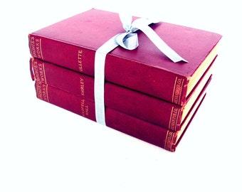 Charlotte Bronte Book Collection, Book Bundle, Charlotte Bronte, The Tenant of Wildfeld RARE Books Interior Design Book Decor, Brontes Works