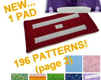 1 PAD (Page 3 of 3 for 196 Patterns), Reusable Swiffer Wet Jet pad, Fabric, Velrco, WetJet Pad Terry Cloth EcoSwift EcoGreen Swifter Pads