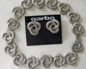 Vintage Garbo Necklace & Earrings